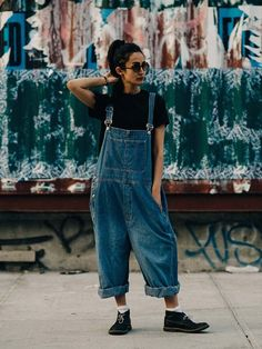 baggy blues. Nadia in NYC. #FrouFrouu