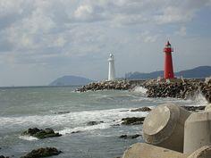 Cheongsapo East / West Breakwater lighthouses [2008 - Haeundae, Busan, South Korea]