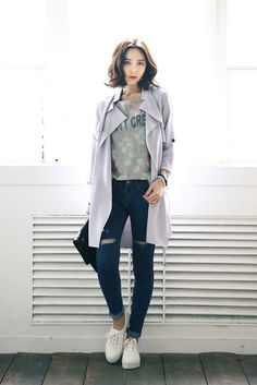 Natural Open Trench Coat