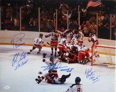 1980 Team USA Hockey Multi-Signed 16x20 Miracle On Ice Photo INSCRIBED JSA ITP