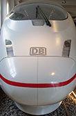 Mock-up vom ICE 3 im Nürnberger Eisenbahnmuseum.