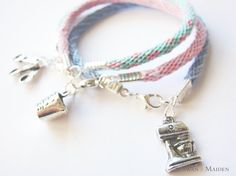 Friendship Bracelet Mixer Charm Pastel Blue by SwanMaidenJewels That Look, Take That, Christmas Jewelry, Pastel Blue, Mixer, Friendship Bracelets, Great Gifts, Things To Come, Charmed