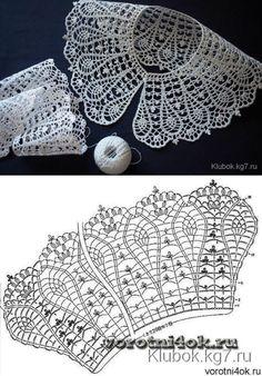 Captivating All About Crochet Ideas. Awe Inspiring All About Crochet Ideas. Crochet Collar Pattern, Col Crochet, Crochet Lace Collar, Crochet Stitches Patterns, Crochet Diagram, Crochet Chart, Irish Crochet, Crochet Motif, Crochet Doilies