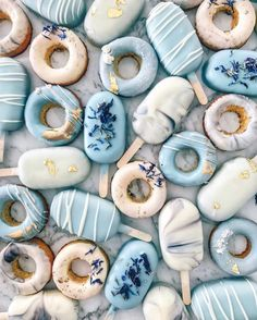 Original Cake Pops by Ray Ray - No, this is not ice cream! Original cake pops by Ray Ray www. Light Blue Aesthetic, Blue Aesthetic Pastel, Bedroom Wall Collage, Photo Wall Collage, Aesthetic Collage, Aesthetic Food, Aesthetic Iphone Wallpaper, Aesthetic Wallpapers, Magnum Paleta