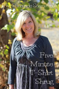 DIY T shirt Shrug refashion tutorial