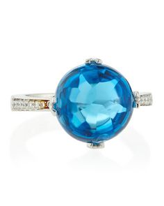 Jelly Bean Blue Topaz & Diamond Ring, White Gold, Size 7 by Frederic Sage at Neiman Marcus Last Call. $1170