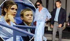 Victoria Beckham, 43, was dressed to impress as she exited her New York hotel in a chic sky blue outfit on Tuesday.