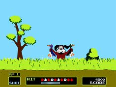 Duck Hunt = putting the gun as close to the screen as possible and still failing to shoot any of the ducks..