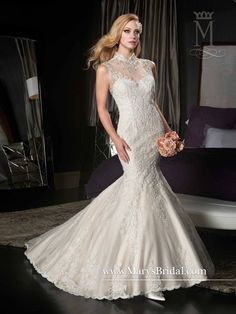 Shimmering Tulle & Lace Gown