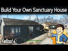 Fallout 4 - Build Your Own Sanctuary House This is the first out of three versions I'm going to do of a custom house modeled off of the houses in Sanctuary. Fallout 4 Secrets, Fallout 4 Tips, Fallout 4 Videos, Fallout Facts, Video Game Memes, Video Games, House Decorating Games, Fallout 4 Settlement Ideas, Fallout Cosplay