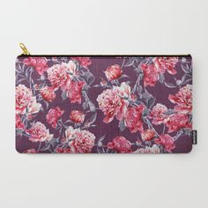 Peony Carry-All Pouch #peony #floral #flowers #botanical #leaves #fashion #moda