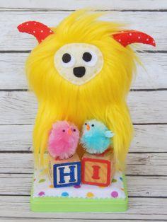 Yeti Monster Soft Sculpture Art Doll Yeti by MsBittyKnacks on Etsy