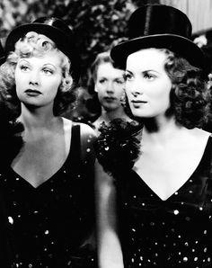 """""""Maureen O'Hara & Lucille Ball in Dance, Girl, Dance (1940). """""""