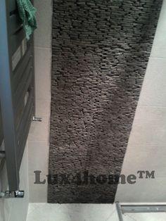 Ściany z kamienia wulkanicznego Lux4home™. Model Standing Stone 10x30 Black Candi.