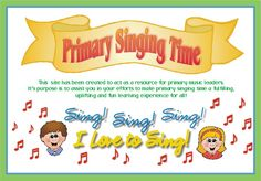 I used some of these To keep kids engaged when I taught singing time. They worked great! Just in case I ever need them again...