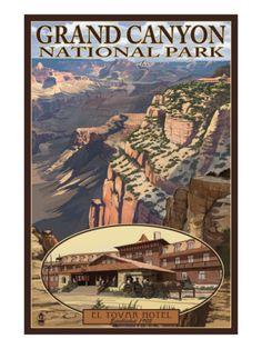 Grand Canyon National Park, Arizona, El Tovar Hotel Print