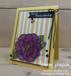 Beauty Blooms | Stampin\' Up! | Beautiful Day | Friendship\'s Sweetest Thoughts #literallymyjoy #blooms #flowers #spring #stampinblends #springtime #TuttiFruttiDSP #2018OccasionsCatalog #20172018AnnualCatalog