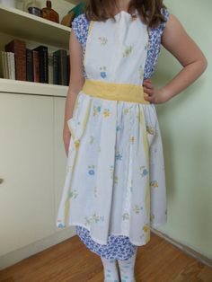 Hand Sewn Children's Size 6-10 Apron Made From by content2Bsew