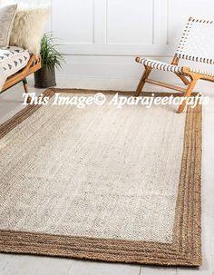 Indian Braid Cotton /& Jute Multi Colour Round Floor Rug Mat Pinwheel 5 Feet Rug