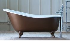 The Bordeaux cast iron slipper bath is the ultimate in luxurious relaxation. Bordeaux, Stand Alone Tub, Cast Iron Bath, Roll Top Bath, Cast Iron Radiators, Contemporary Bathrooms, Architectural Salvage, Interior Styling, It Cast