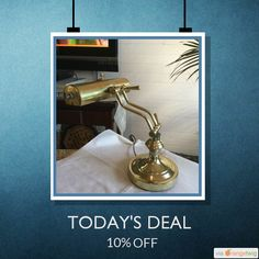 Today Only! 10% OFF this item.  Follow us on Pinterest to be the first to see our exciting Daily Deals. Today's Product: Summer sale Brass desk lamp table lamp light fixture sconces Buy now: https://orangetwig.com/shops/AABvwSH/campaigns/AACrrQm?cb=2016006&sn=Debbadoos&ch=pin&crid=AACrrPY&exid=258861551&utm_source=Pinterest&utm_medium=Orangetwig_Marketing&utm_campa..