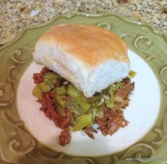 The Four Points Foodie: Fire Roasted Hatch Green Chile and Jalapeno Pulled Pork Sliders