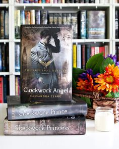 Good Monday morning to you Bookworms!! --- I am very happy this Monday morning mostly because I'm so glad to be back home from vacation. Now we have just two and a half weeks left of summer before the kiddos go back to school and I plan to enjoy every minute of it. --- Spin-Off Series. #AlltheBooksJuly The first spin-off series that came to mind was The Infernal Devices by Cassandra Clare. I think this was actually the first spin-off series that I ever read way back when. --- Shelfie…