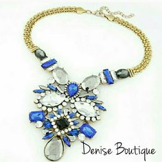 SALE Statement Necklace Color:Blue Fashion Jewelry Jewelry Necklaces