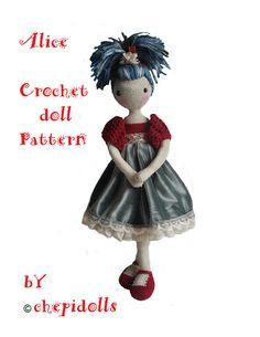 Archivo del PDF patrón muñeca de ganchillo
