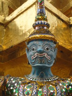 Temple guardian, Grand Palace, Bangkok, Thailand. Photo: Pat Hinsley
