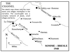 Map of Somme-Bresle, 1940, pin by Paolo Marzioli