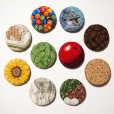 project - ipnot - all done in french knots! Punch Tool, French Knots, Hand Embroidery, Embroidery Ideas, Punch Needle, Textile Art, Nifty, Minis, Needlework