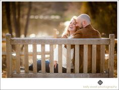 Neutral spring engagement photo at Meadowlark Gardens in Vienna, Virginia | Kelly Ewell Photography | Leesburg VA Wedding Photographer