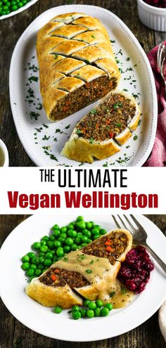 Impress your guests with this gorgeous Vegan Wellington! The filling is meaty, s… Impress your guests with this gorgeous Vegan Wellington! The filling is meaty, satisfying and ever-so-tasty! It's surprisingly easy to make too! via Vegan Huggs Entree Vegan, Vegan Dinner Recipes, Delicious Vegan Recipes, Veggie Recipes, Whole Food Recipes, Vegetarian Recipes, Cooking Recipes, Healthy Recipes, Vegan Recipes For Thanksgiving