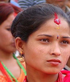 Woman in Red at Teej Festival, Kathmandu Nepal