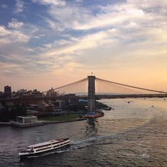 """@fleurs.de.sel, who took this picture, took advantage of 15 hours of daylight to do what New Yorkers do best: walk. """"Long days mean I can walk after work and it's still light out!"""" she told @nytimes. """"Walking the Manhattan Bridge is my favorite."""" Her photo shows the #BrooklynBridge in the distance."""