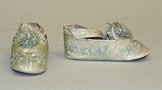 1850 Girl's Shoes, American, made of silk. BullDoll Inspiration