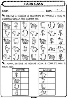 A  ARTE  DE EDUCAR               Atividades de matemática para Educação Infantil     Posted: 19 Aug 2013 05:43 AM PDT           ... Senses Activities, Classroom Activities, Learning Activities, Kids Learning, Preschool Assessment, Maths Exam, Kindergarten Worksheets, Printable Puzzles For Kids, Special Needs Students