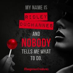 Want a taste of the NEW novel? Here's a quote from chapter page oh it's nothing just overly obsessed with this series! Ridley Duchannes, Ya Books, Books To Read, Beautiful Creatures Series, Kami Garcia, Ex Girl, Cloak And Dagger, Dear Evan Hansen, Shadow Hunters