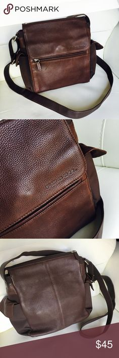 Fossil Brown Leather Crossbody Shoulder Bag  Fossil Brown Leather Crossbody Shoulder Handbag Bag  leather in good use condition check picks 015648765 Fossil Bags Crossbody Bags