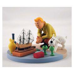 Tintin - Tintin au marché aux puces - figurine -