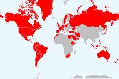Quantos países já visitei. O meu Mapa de países visitados, as minhas viagens