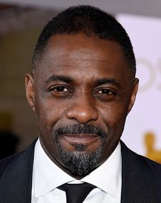 Idris Elba's perfectly manicured mouth frame. | The 21 Most Important Beards To Walk The Red Carpet This Year
