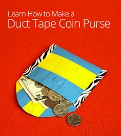 Need a purse to match your fabulous duct tape wallet? Why not make a coin purse out of duct tape, too? Learn how to craft the purse and add a magnetic clasp.