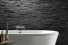 Rugged Black Bathroom Idea
