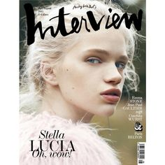 Interview Magazine Germany July 2015 Stella Lucia, Emma Stone Paris... ❤ liked on Polyvore featuring magazine