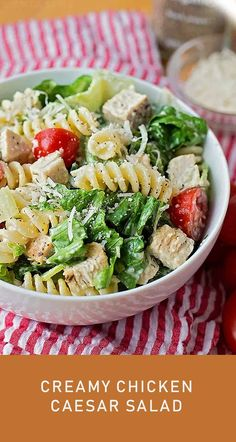 This tangy, creamy chicken Caesar salad is perfect for summer! It's light, flavorful and filling. Chicken Caesar Pasta Salad – This tangy, creamy chicken Caesar salad is perfect for summer! It's light, flavorful and filling. Chicken Caesar Pasta Salad, Pasta Salad Recipes, Best Turkey Gravy, Sopapilla Recipe, Baked Chicken Wings, Masala Recipe, Bbc Good Food Recipes, Spaghetti Recipes, Unbaked Cheesecake