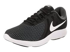 factory authentic b1577 1d278 NIKE Men s Revolution 4 Running Shoe Black White Anthracite Size 11.5 M US