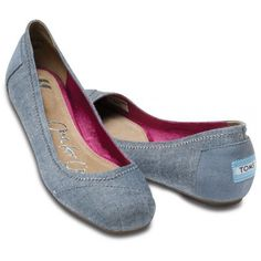 TOMS Katia Chambray Ballet Flats, I Love these! But order a size down, they do run big.
