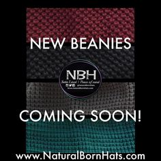 GREAT NEWS!!! The wait is almost over. Our new beanies will be available in two different sizes.. We hope you guys love them as much as we do. More details to follow NaturalBornHats.com #NBH #SneakPeek #NewStyles #CominSoon #PomPom #Cuffed #SatinLinedBeanies #HealthyHair #Winterize #Slouchy #Beanies #Unisex by naturalbornhats
